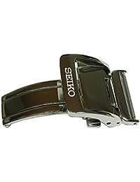 [セイコー] SEIKO 尾錠巾18 mm Dバックル プッシュ式 SEIKOロゴ入り 銀色