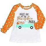 (プタス) Putars ベイビーボーイズガールズロングスリーブレターパンプキンTシャツトップクリスマスコスチューム 12ヶ月 - 5 歳