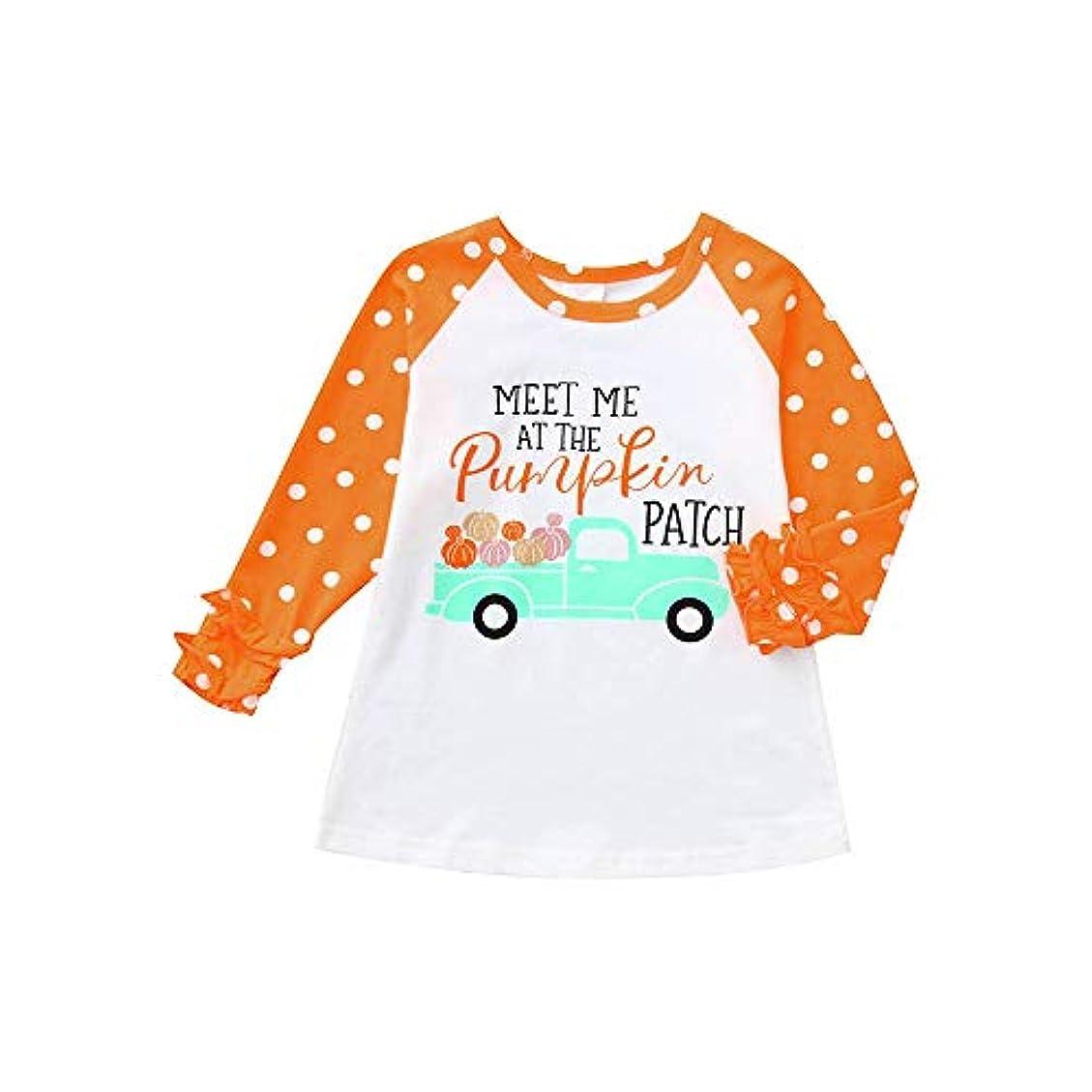 国家肌寒い等々(プタス) Putars ベイビーボーイズガールズロングスリーブレターパンプキンTシャツトップクリスマスコスチューム 12ヶ月 - 5 歳