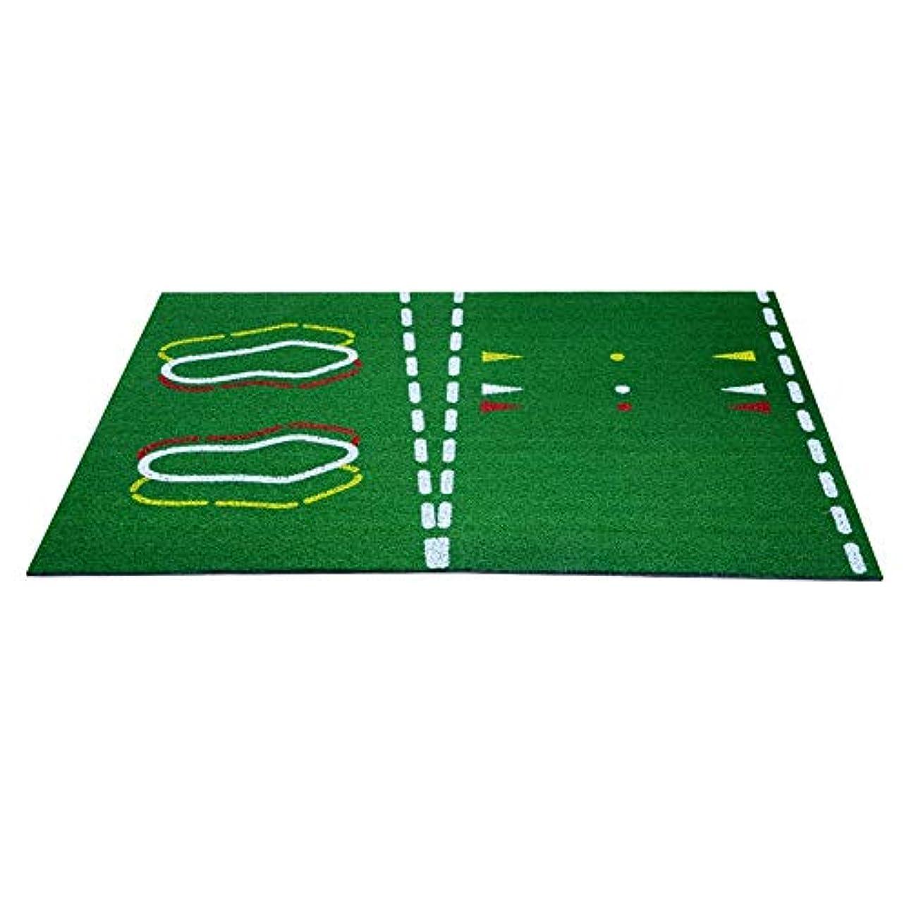遠えキャプテン軸ゴルフパッティングマット ゴルフ指導練習マット屋内と屋外のマットポータブルアウトドアスポーツゴルフトレーニング打つ芝マット ゴルフトレーニングマット (色 : 緑, サイズ : 26*36cm)