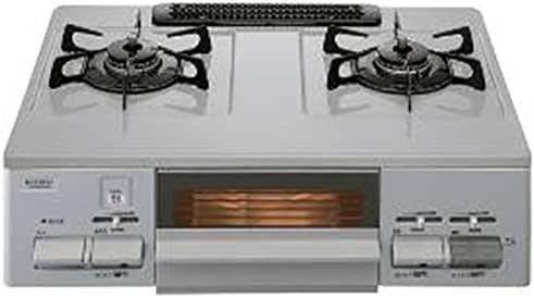 ノーリツ テーブルコンロ ライトグレーホーロートップ 水あり片面焼グリル プロパンガス用 左強火 シルバーフェイス NG60SVLLPG