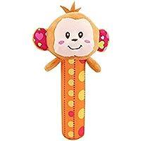 HuaQingPiJu-JP 1Pcベビーキッズクリエイティブリング手のひらソフトぬいぐるみ教育玩具