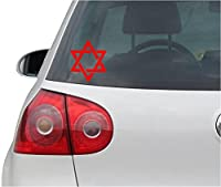 ステッカー‐自動車用ステッカー - Sticker / Decal - JDM - Die cut - Star Of David Decal Car Laptop Window Vinyl Sticker - 赤 - 88mmx104mm