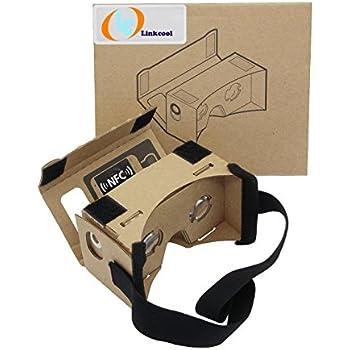 Linkcool Google Cardboard(グーグル・カードボード)3Dメガネ 3d Vrメガネ 組み立て式 NFCタグとベルト付き