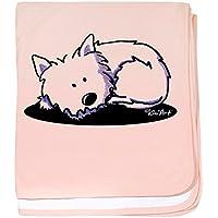 CafePress – Nap Time Westie – スーパーソフトベビー毛布、新生児おくるみ ピンク 07801347906832E