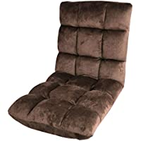 Z.Y.L 14段調節調節できる座椅子 低反発 ふわふわ感じがする ブラウン