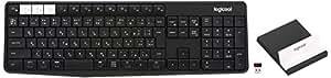 ロジクール K370s PC/スマホ/タブレット対応 マルチデバイス Bluetooth ワイヤレス キーボード (スタンド付属)