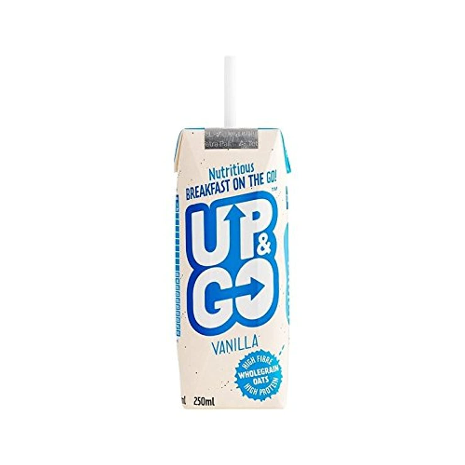 切り刻む吐き出すプラスチックオート麦の250ミリリットルとバニラ朝食ドリンク (Up&Go) (x 6) - Up&Go Vanilla Breakfast Drink with Oats 250ml (Pack of 6) [並行輸入品]