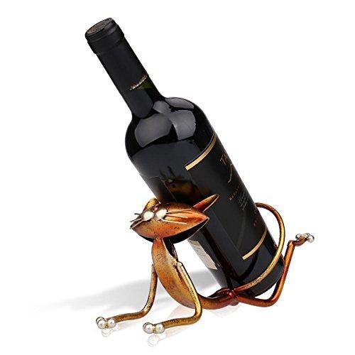 Tooarts ヨガの猫ワインホルダー