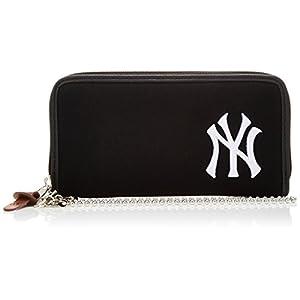 [メジャーリーグベースボール] ウォレット 財布 スウェット ヤンキース 刺繍ロゴ レディス メンズ YK-WLT01 BLACK ブラック