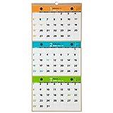 能率 NOLTY 2020年 カレンダー 壁掛け 59 A4×3段 3ヶ月 C153 AZ