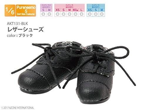 ピュアニーモ用 レザーシューズ ブラック (ドール用)