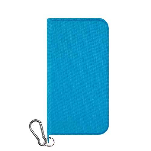 iPhone XR [FlipNote Wild] 撥水、耐衝撃フリップノートケース ブルー Simplism TR-IP18M-FNW-BL