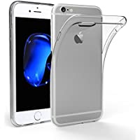 iPhone6S ケース, DOSMUNG iPhone6 ケース,高品質クリスタル クリア 透明 TPU素材 落下防止&衝撃吸収 擦り傷防止 薄&柔軟型 最軽量 水洗可