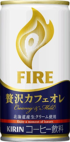 缶コーヒー KIRIN FIREキリン ファイア カフェラテ 185g 1箱30缶