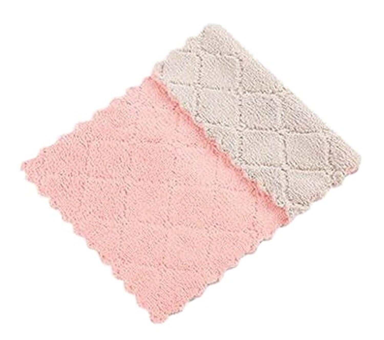 [F]サンゴベルベット5点セットキッチン用皿タオル皿布吸収性タオル