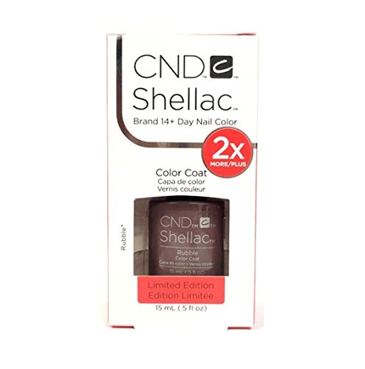 電圧テーブルを設定するおなじみのCND Shellac - Limited Edition! - Rubble - 15ml / 0.5oz