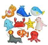 水ヨーヨー ビニールヨーヨ 海のなかま(10種アソート)  / お楽しみグッズ(紙風船)付きセット [おもちゃ&ホビー]