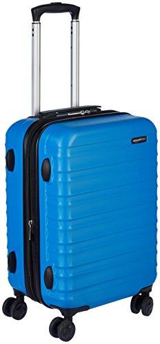 Amazonベーシック スーツケース ハードタイプ ダブルキャスター付き 51cm ライトブルー