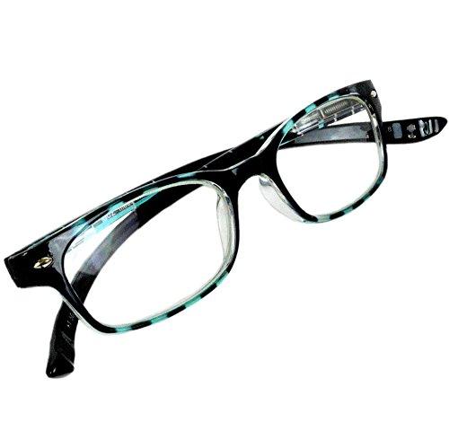 【PrePiar】NEW Hold Neck 802(ニューホールドネック)首に掛けられる老眼鏡 ブルーライトカット35%ユニセックス 眼鏡ケース付き(ブルー・+2.0)