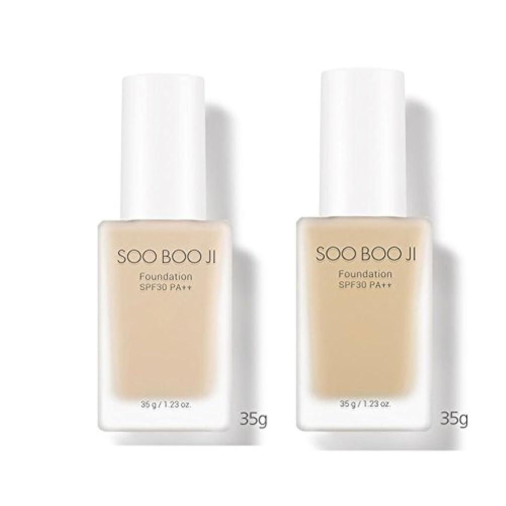 思想フォルダチョコレートA'PIEU Soo Boo Jiファンデーション(SPF30 / PA++)35g x 2本セット2カラー(21号、23号)、A'PIEU Soo Boo Ji Foundation (SPF30 / PA++) 35g...