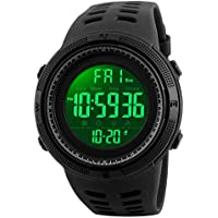 SKMEI 1251 Men Sport Digital Wristwatch Fashion Design Waterproof Multi Functions Alarm Stopwatch Waterproof 50M
