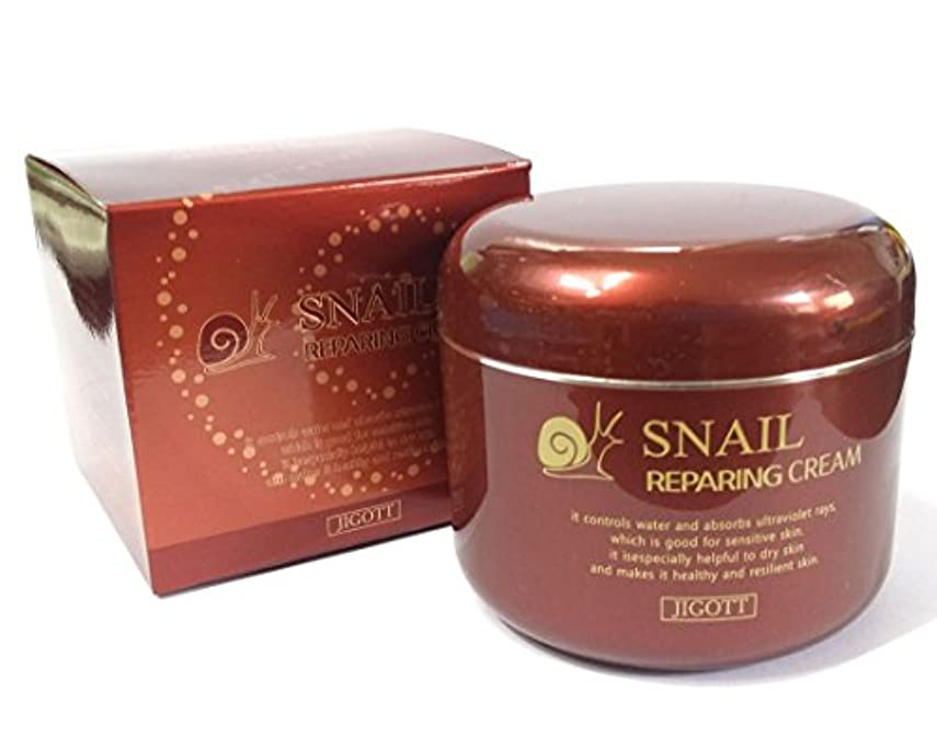 プライム不誠実離す[JIGOTT] カタツムリ100ml/Snail Cream 100ml/カタツムリ分泌、保湿/韓国化粧品/snail secretion,moisturizing/Korean Cosmetics (3EA) [並行輸入品]