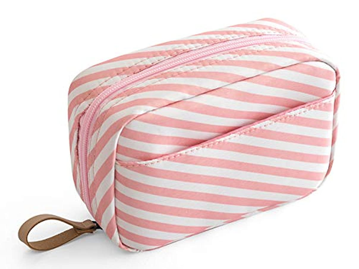 化粧ポーチ メイクポーチ コスメポーチ トイレタリーバッグ 化粧品収納 出張 小物入れ 仕分け収納 防水 大容量 ピンク