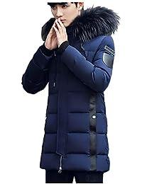 FORENJOY ダウンコート メンズ ダウンジャケット コート ロング フード付き 帽子にファー付き アウター 冬服 無地 厚手 カジュアル ビジネス 防風 防寒 通勤 通学 ブルゾン