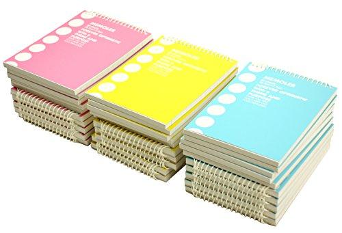 コクヨ ポケットメモ <メモラー> 詰合せ 青・ピンク・黄 各10冊 メ-300ツメ