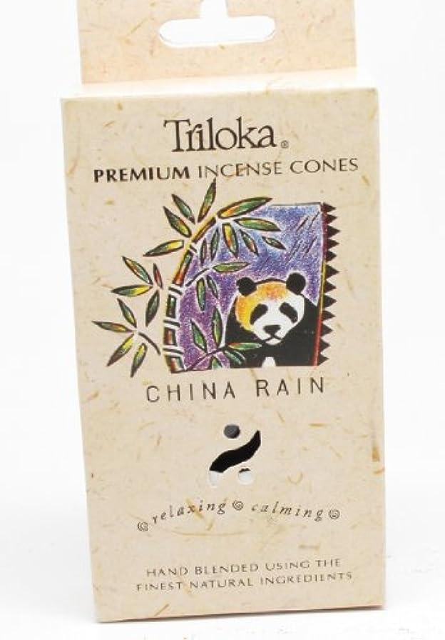 薄いデータベース薄い中国雨 – TrilokaプレミアムCone Incense