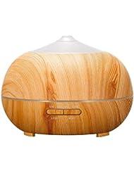 オフィスホームベッドルーム用超音波空気加湿器-アロマディフューザー-エッセンシャルオイルディフューザー-快適に眠り、職場を簡単に制御できる超静音