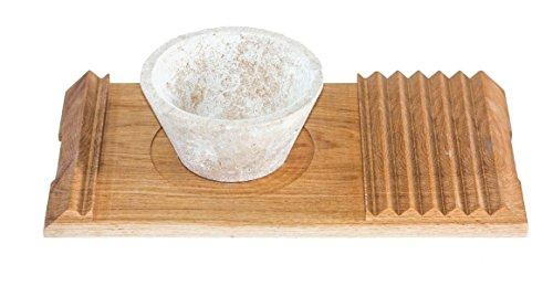 Apulia Design - Ardica凝灰岩を使用したカップとトレーイタリア、プッリャ州に伝わる職人技