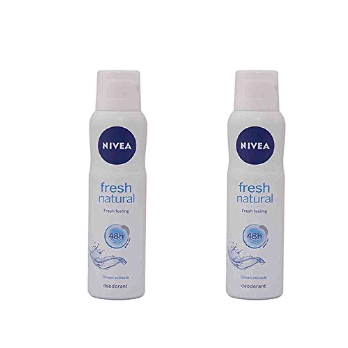 エアコンボンド木2 Lots X Nivea For Women Fresh Natural Deodorant, 150ml - 並行輸入品 - 2ロットXニベア女性用フレッシュナチュラルデオドラント、150ml
