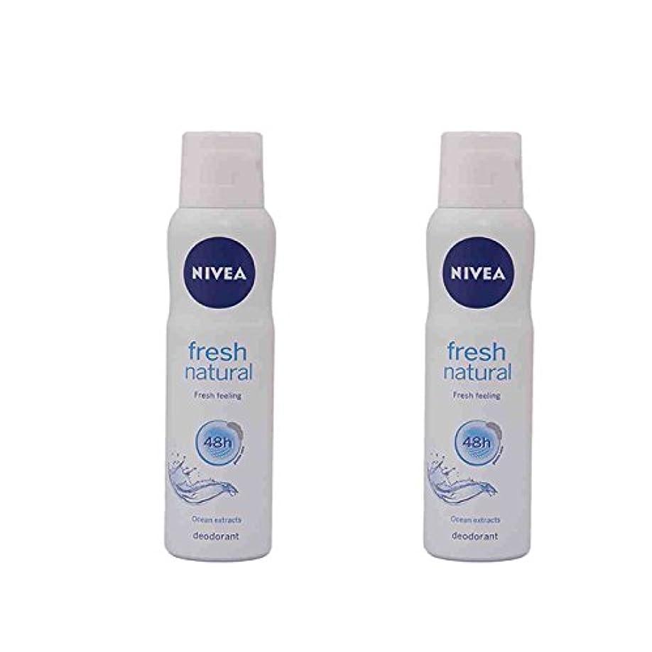 ギャンブル再開祖母2 Lots X Nivea For Women Fresh Natural Deodorant, 150ml - 並行輸入品 - 2ロットXニベア女性用フレッシュナチュラルデオドラント、150ml
