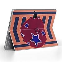 Surface go 専用スキンシール サーフェス go ノートブック ノートパソコン カバー ケース フィルム ステッカー アクセサリー 保護 ユニーク その他 星 スター 007178