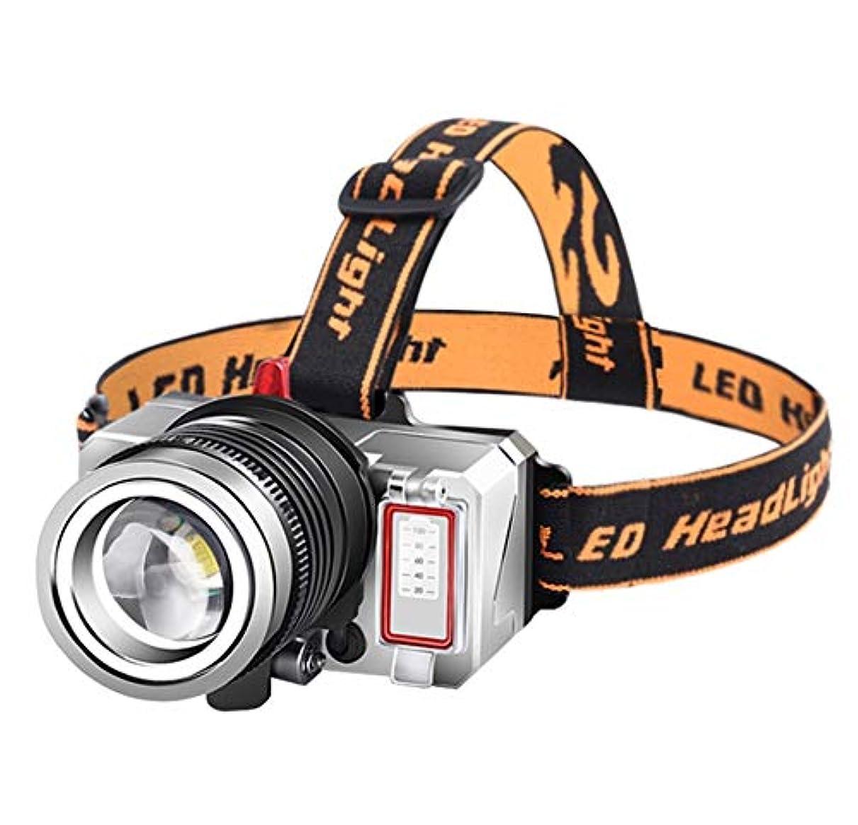 効能ユダヤ人助手ヘッドライト,屋外の極度の明るい防水多機能の釣りロングショットヘッドライト (サイズ さいず : Bring support)