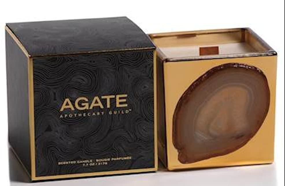 散文傾いた健康Zodax Agate Scented Candle Jar 50 Hours Burn Time- Black Currant (217gm / 7.7oz)