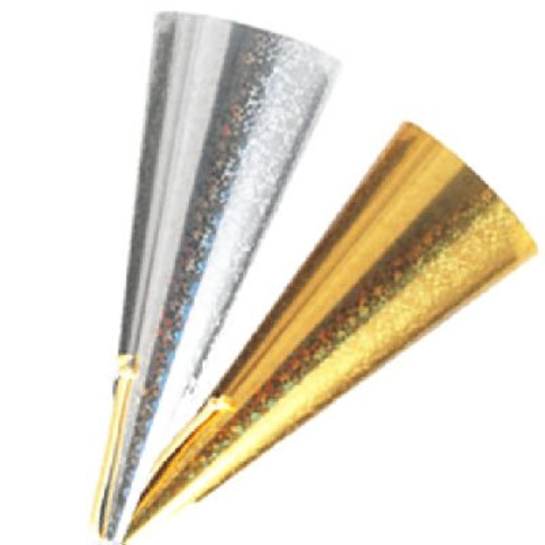【業務用】ハートフルツインクラッカー テープが飛び出すタイプ 金?銀2本セット