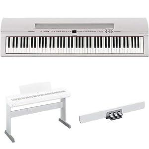 YAMAHA 電子ピアノ 88鍵 ホワイト P-255WH & スタンド L-255WH & ペダルユニット LP-255WH セット