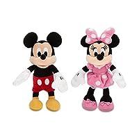 ディズニー (Disney) ミッキー& ミニー ミニサイズ ぬいぐるみ ペアセット 23.5cm ピンク 2018 [並行輸入品]