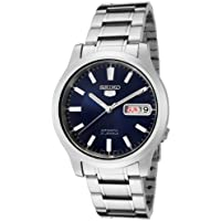 Seiko Mens Automatic Blue Dial Silver Watch Model SNK793K