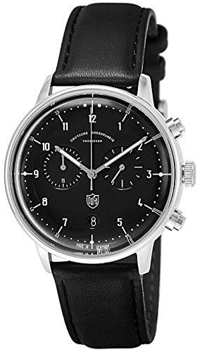 [ドゥッファ]DUFA 腕時計 HannesChrono ブラック文字盤 DF-9003-01 メンズ 【正規輸入品】