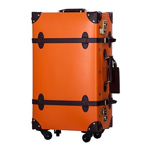 TANOBI(タノビ) トランクケース キャリーバッグ SS機内持込可 手作り 復古主義 修学旅行 ネームタグ レトロ おしゃれ かわいい 12色4サイズ B07P7T35D2 1枚目