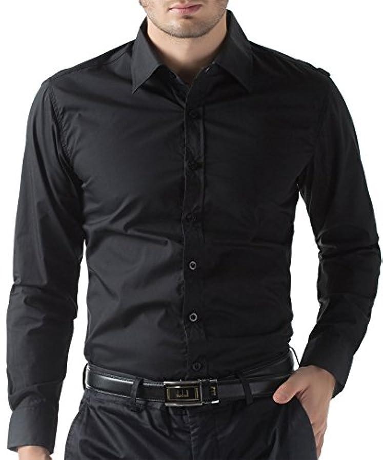 今チロ骨の折れるPaul Jones® (ポールジョーンズ) メンズシャツ スリムフィット 長袖ボタンダウンCL1044