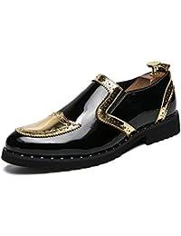 靴 男性 ビジネス オックスフォード カジュアル 個性 スタイリッシュなステッチ 革 ブローグ シューズ 通気