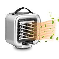セラミックヒーター ファンヒーター テーブルヒーター 机ヒーター 電気ヒーター 首振り 暖房器具 省エネ コンパクト 小型 過熱保護 温風&熱風 速暖 3段階切替式 机に置く 2秒暖かく 転倒OFF 100V AC給電