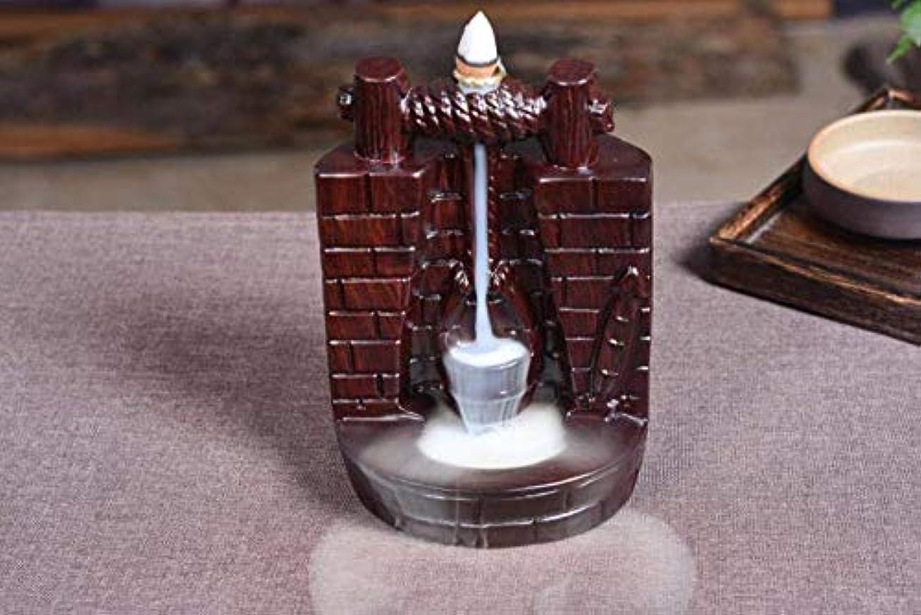 ひまわり乗算エンジニアリング滝の逆流香ホルダー高貴なビャクダン香コーンバーナー香スティックホルダー