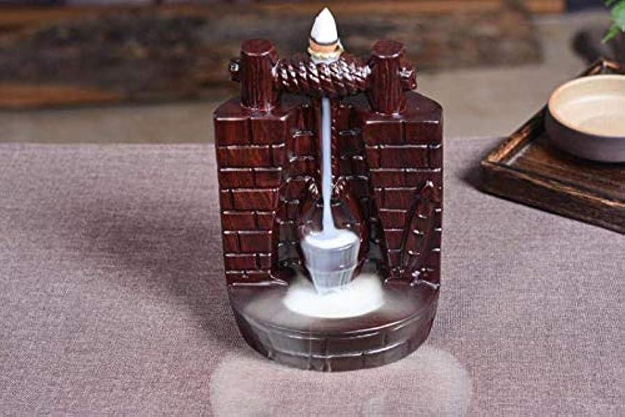 無し宿る船外滝の逆流香ホルダー高貴なビャクダン香コーンバーナー香スティックホルダー