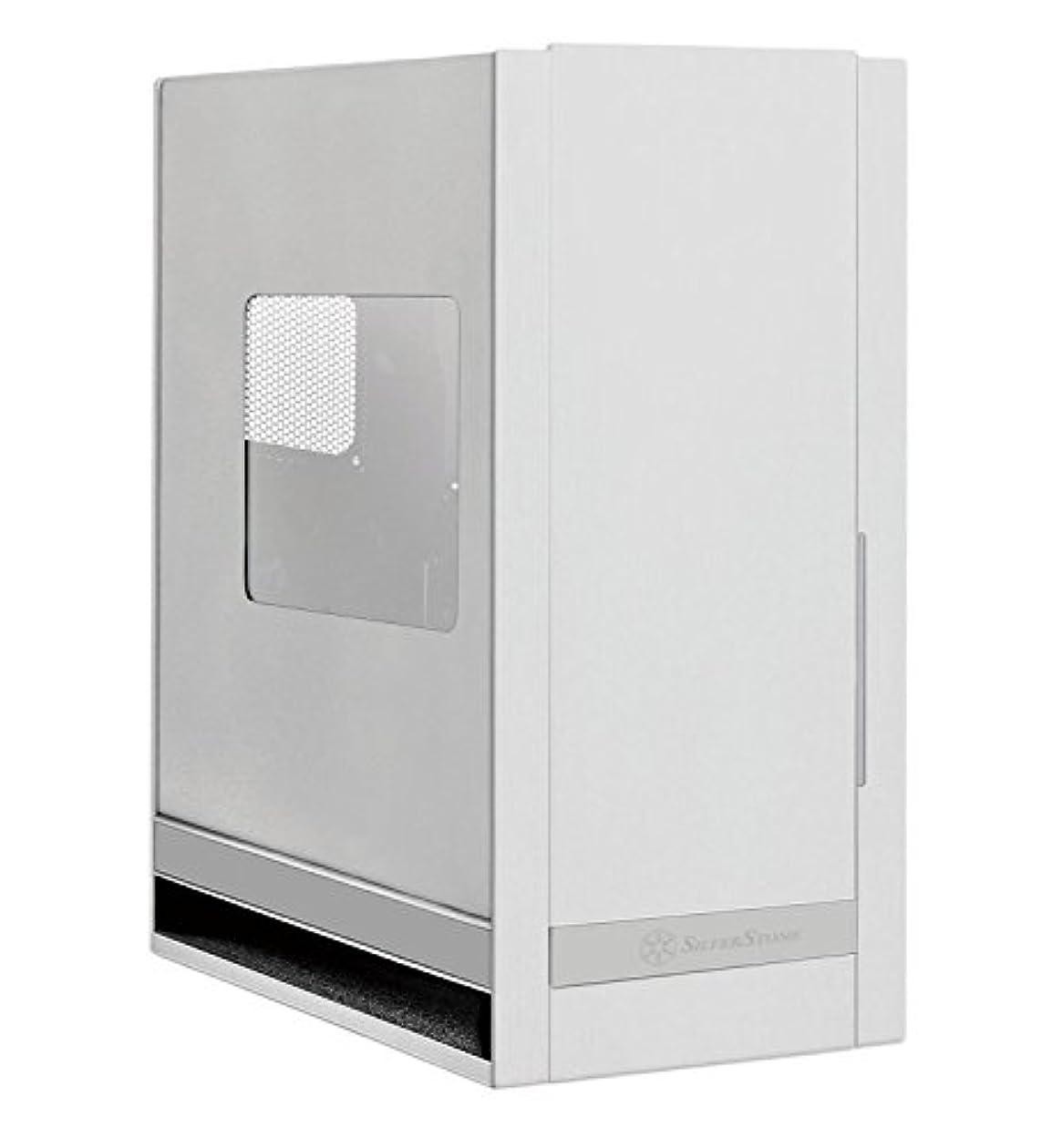 帰する幹詩Silverstone Tek Aluminum 90 Degree Motherboard Mounting SSI-CEB/ATX/Micro-ATX Computer Case with Side Window Panel FT05S-W (Silver with Side Window) [並行輸入品]